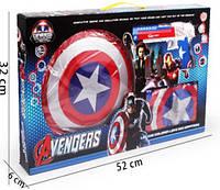 Игровой набор Капитан Америка щит, пистолет, накидка супергероя
