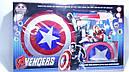 Игровой набор Капитан Америка щит, пистолет, накидка супергероя, фото 3