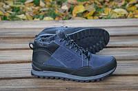 Мужские кожаные кроссовки New balance 12252 темно-синие