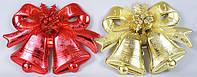 Новогоднее украшение Колокольчики 27х37 см, пластик 2 вида