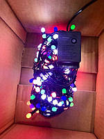 Гирлянда 'Ягода 8мм ' 200 LED чёрном проводе, синие огни