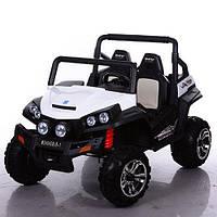 Двухместный Детский электромобиль Джип Bambi M 3454EBLR-1 EVA  mp3 кожа  4 мотора  180W 134см