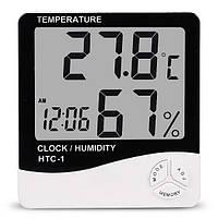 Цифровой термометр гигрометр Htc-1 с выносным датчиком температуры-TDN