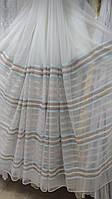 Микросетка Полосы бирюзово-коричневые(горизонталь)