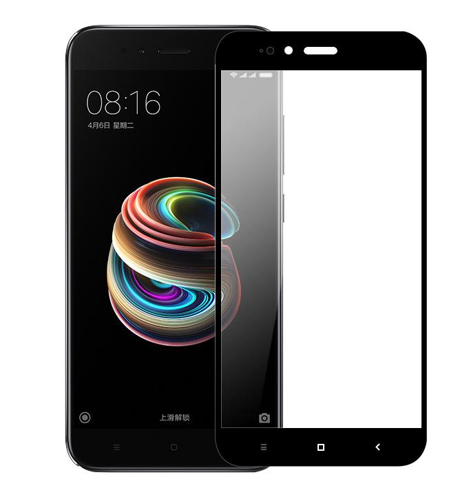 Защитное стекло Optima 2.5D 9H на весь экран для Xiaomi Mi 5x A1 черный