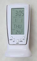 Настольные цифровые часы с термометром, подсветкой-TDN