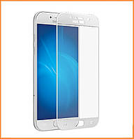 Защитное стекло 3D Full Cover для Samsung A3 (2017) SM-A320 White (Screen Protector 0,3 мм)