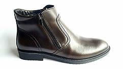 Мужские кожаные зимние ботинки  Kongressmen Chocolate