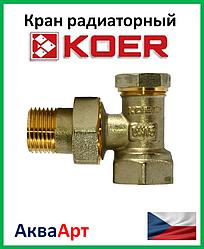 Koer вентиль радиаторный настроечный угловой 1/2x1/2 (KR.902)