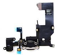 ✅Шлейф для iPhone 5C с разъемом зарядки, коннектором наушников и микрофоном , оригинал