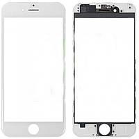 Стекло белое для iPhone 6 с рамкой