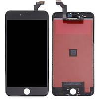 Дисплей iPhone 6 Plus с сенсором (тачскрином) и рамкой, черный, копия