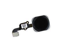 Шлейф для iPhone 6 Plus с кнопкой меню (Home) и черной пластиковой накладкой