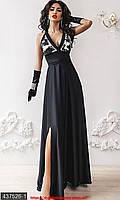 Шикарное шелковое платье в пол