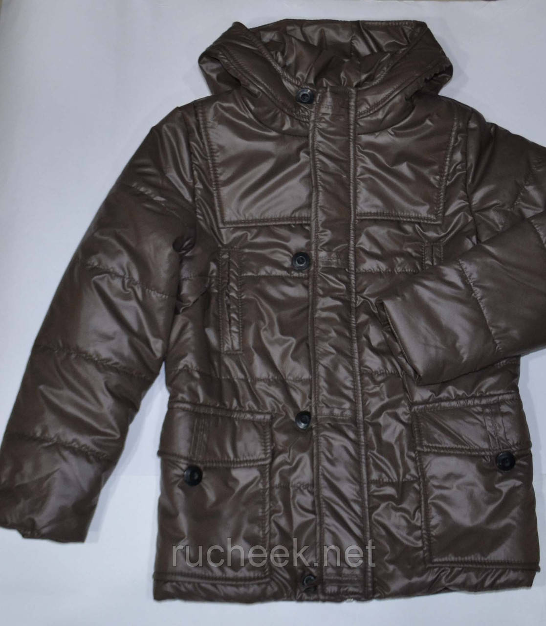 Куртка парка деми на мальчика р-ры 134, 140 ТМ Одягайко