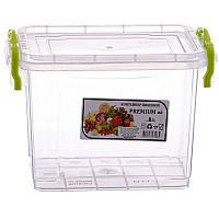 AL-PLASTIK PREMIUM Пищевой контейнер высокий с ручками 2 л✵ Бесплатная доставка