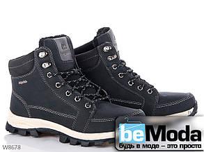 Стильные висококачественные мужские ботинки Navigator с белой подошвой на шнурках черного цвета