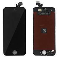 Дисплей iPhone SE с сенсором (тачскрином) и рамкой, черный, оригинал