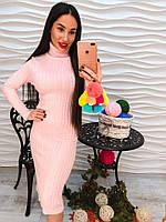 """Элегантное женское платье """"Персиковый рай"""""""