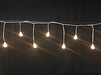 Светодиодный мини занавес Айсикл Плей Лайт, бахрома LED  (2метра)