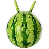 Мяч для фитнеса с рожками Арбуз 38см, фото 1