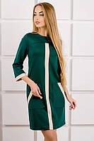 """Платье с планкой """"Белинда""""  р. 44-52 зеленый"""