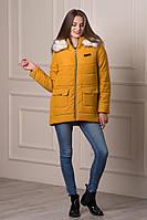 Ledi M Зимняя куртка KL Real горчица Леди М