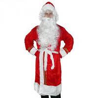 Карнавальный костюм Деда Мороза с вышивкой (красный).