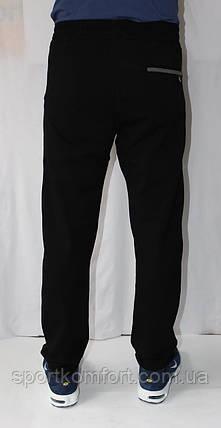 Спортивные штаны мужские TOMMY LIFE  трикотажные черные., фото 2