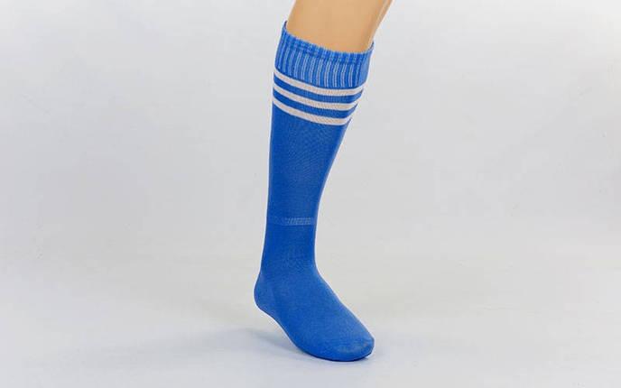 Гетры футбольные взрослые синие с белой полосой CO-120-B, фото 2