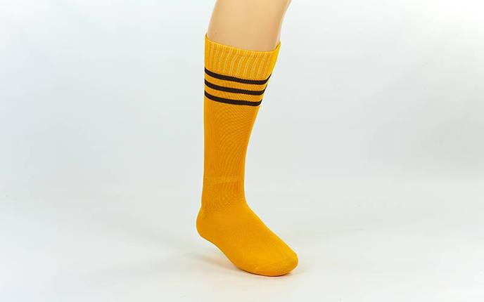 Гетры футбольные взрослые желтые с черной полосой CO-120-Y , фото 2