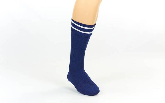 Гетры футбольные юниор темно-синие с белой полосой CO-5602-DB, фото 2
