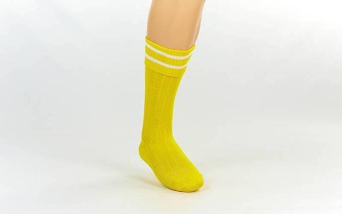 Гетры футбольные юниор желтые с белой полосой CO-5602-Y, фото 2