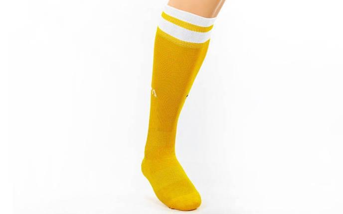 Гетры футбольные юниор Fifa желтые с белой полосой CO-5609-Y, фото 2