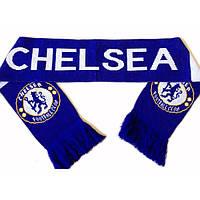Шарфик зимний для болельщиков двусторонний Chelsea FB-3029