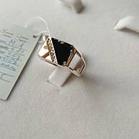 Серебряный перстень из золотом