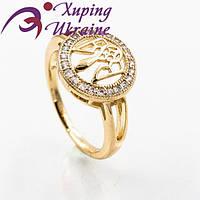 Мужской перстень Xuping позолоченный «Безупречный VI»
