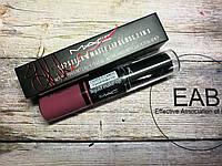 Жидкая матовая помада + сухая помада для губ M.A.C Matte Lipstick & Lipgloss (2в1)
