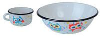 EPOS Набор детской эмалированной посуды - набор 163 Совы✵ Бесплатная доставка
