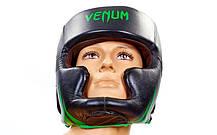 Шлем боксерский с полной защитой Кожа VENUM BO-5246-G , фото 2