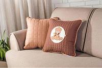 Подушка декоративная с шевроном Мишка