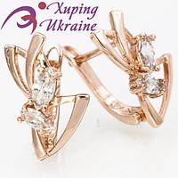 Серьги Позолоченные Xuping «Блаженные XI»