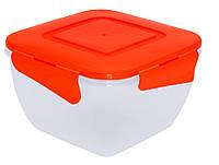 Алеана Пищевой контейнер квадратный с зажимом 0.9 л✵ Бесплатная доставка