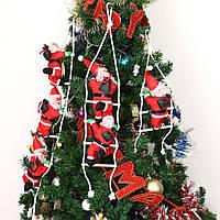 Декоративный Санта Клаус на лестнице (Дед Мороз на лестнице) 3 фигурки по 35см