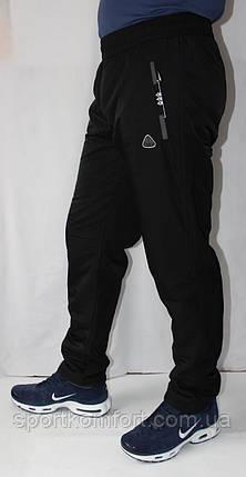 Мужские спортивные брюки трикотажные прямые SOCCER 70 хлопок три кармана на молнии, фото 2