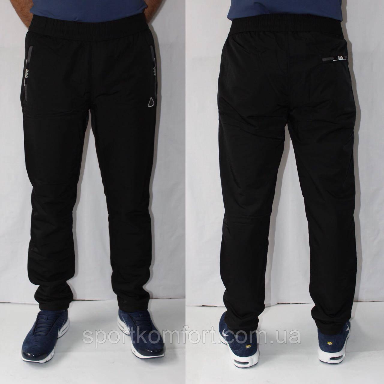 Мужские спортивные брюки трикотажные прямые SOCCER 70 хлопок три кармана на молнии