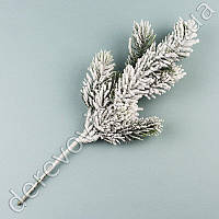 Ветка еловая со снегом маленькая, 36 см
