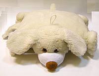 Подушка-игрушка из овечьей шерсти декоративная Собака, фото 1