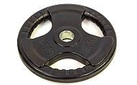 Блины (диски) обрезиненные с тройным хватом и металлической втулкой d-52мм TA-8122-15