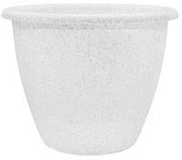 Алеана Вазон Верона 21х16.5 см (белый флок)✵ Бесплатная доставка